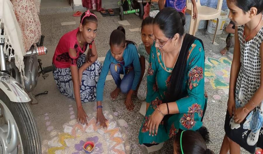 Diwali celebration at Rangpuri