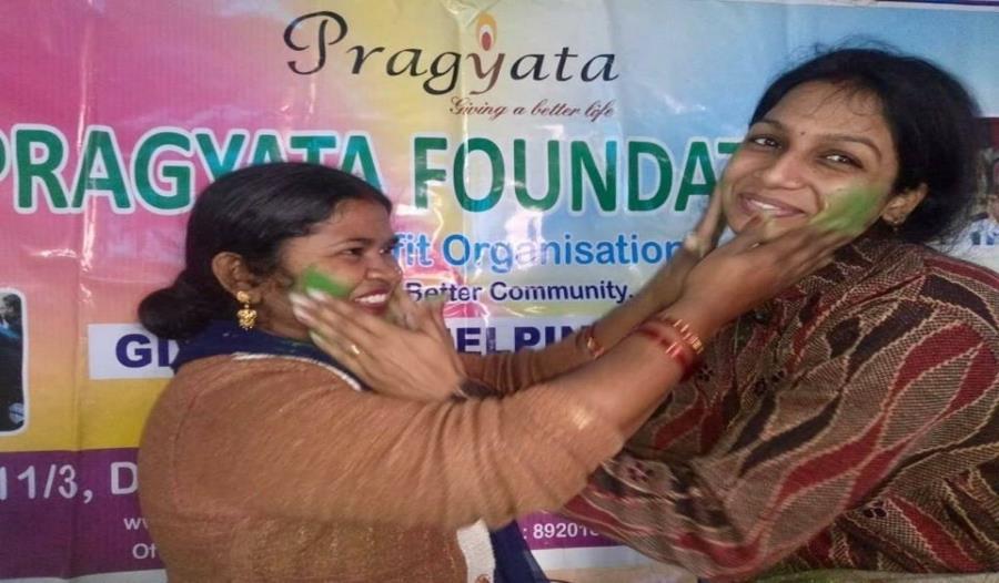 Celebration of Holi festival