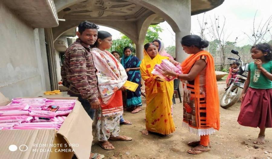 Sanitary pads distribution