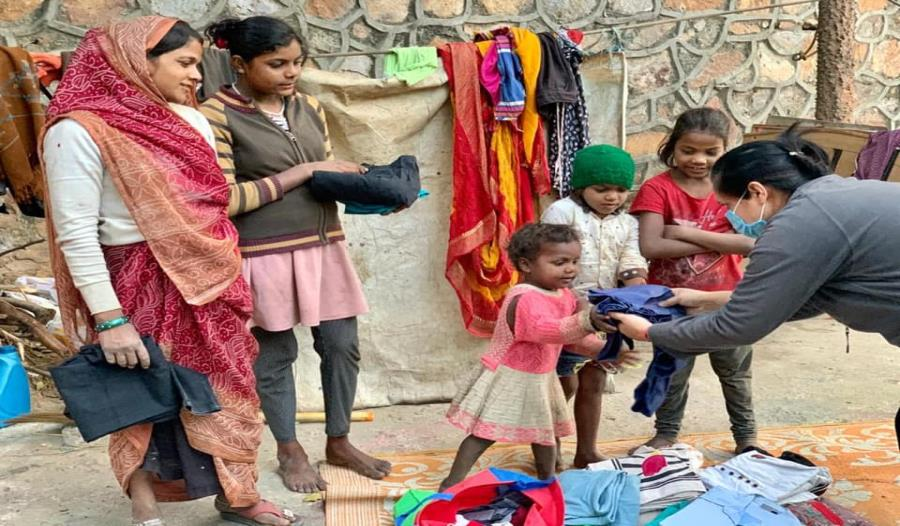 Garment distribution drive