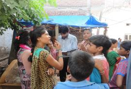 Education awareness in slum areas