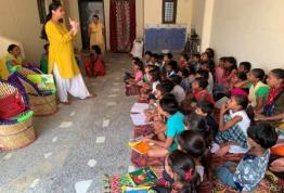 Storytelling session at Rangpuri