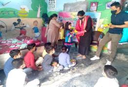 Classroom kits and Food distribution