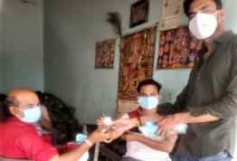 Mask & Sanitizer distribution
