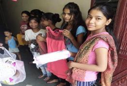 Garments & sanitary pads distribution