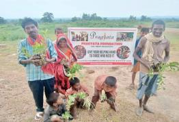 Tree plantation at Sonbhadra